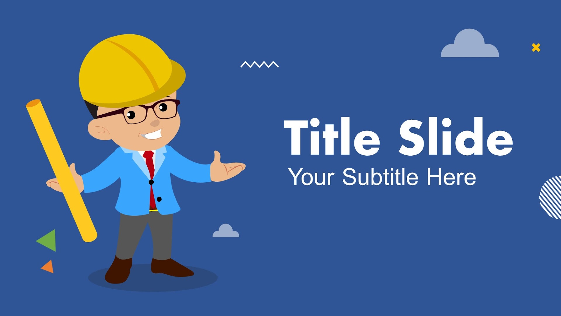 Cartoon Style Engineer Google Slides Themes and PPT
