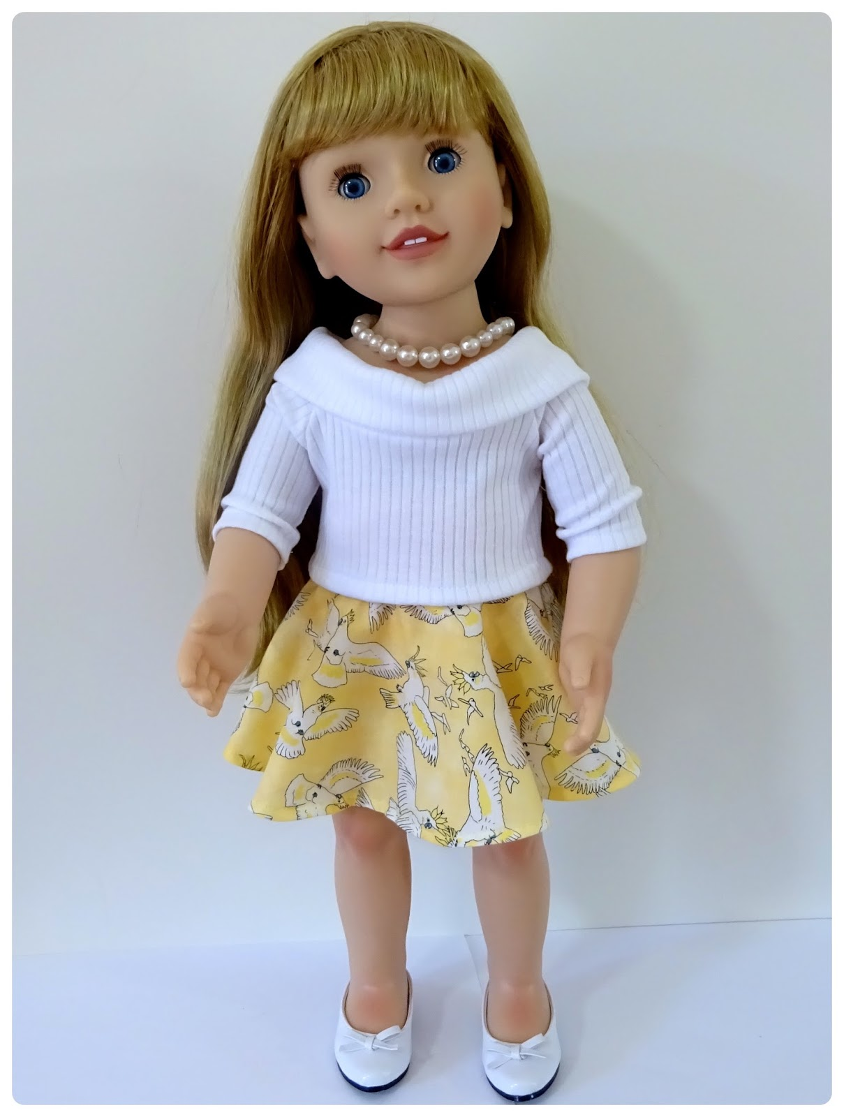 Doll Clothes Patterns by Valspierssews: Skater Skirt Doll Clothes ...