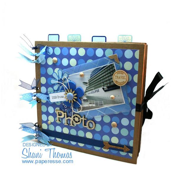 Western Mediterranean Cruise mini-album, by Paperesse.
