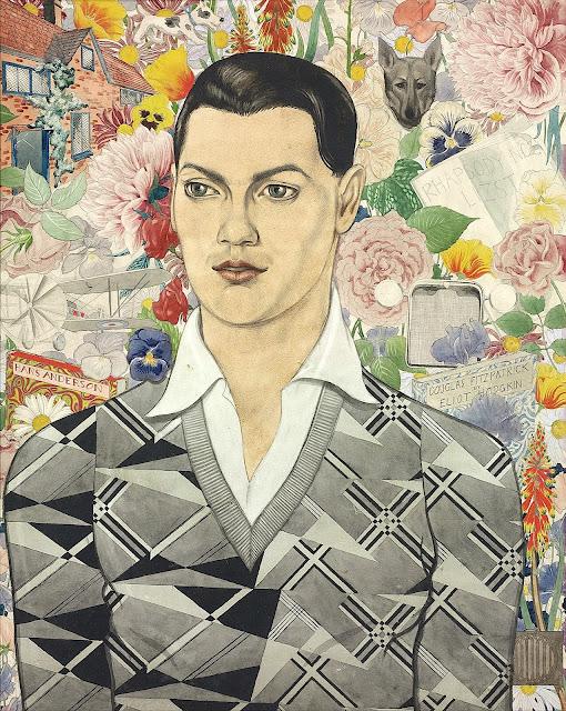 Eliot Hodgkin (1905-1987),  Portrait of Douglas Fitzpatrick, 1930 Crayon, aquarelle, peintre britannique