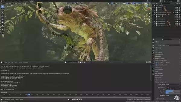 برنامج مونتاج Blender