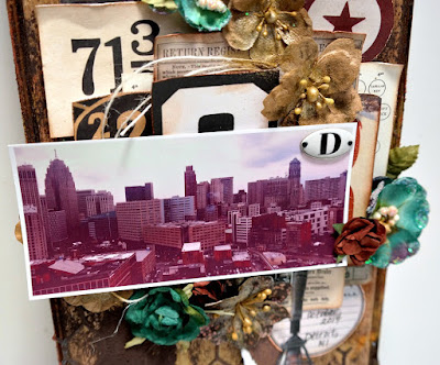 Detroit Rock City Wood Vignette Focal Point Closeup by Dana Tatar for Scraps of Darkness