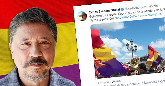Carlos Bardem apoya que la bandera republicana sea considerada cooficial