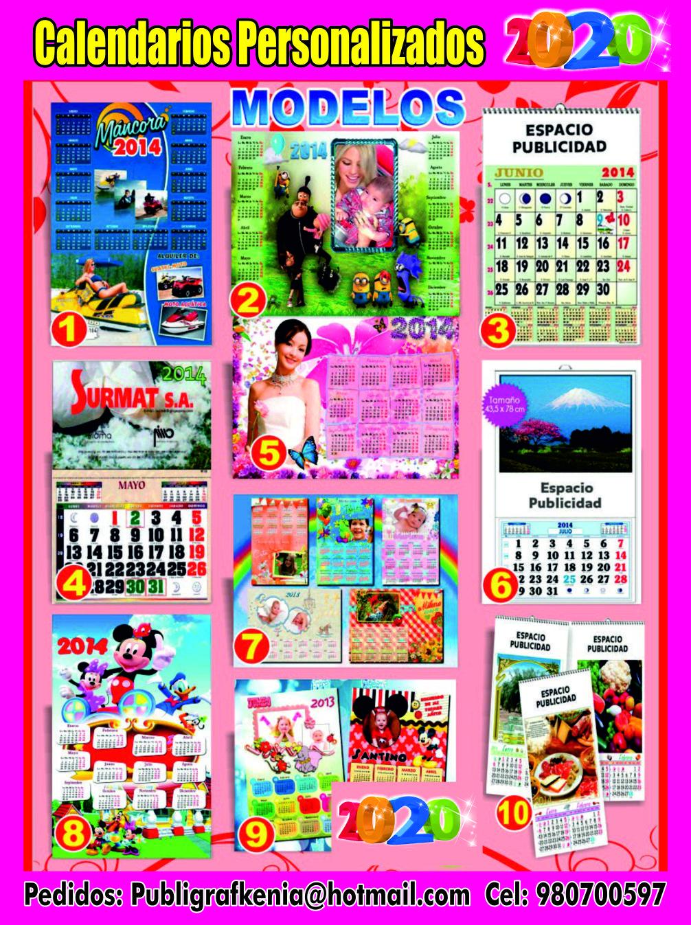 Calendario Fgi 2020.Imprenta Calendarios 2020