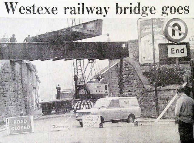 Dismantling of Westexe Bridge - 1971
