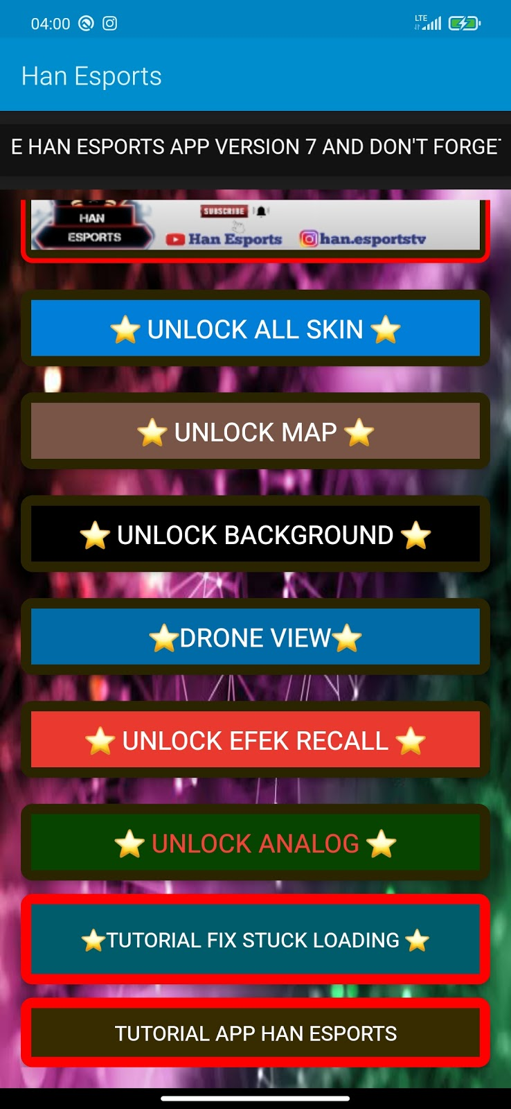 Mlbb Han Injector Unlock All Skins Drone View Patch Khaleed Moonton Free Skins