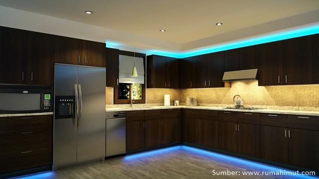 Walau Besarnya Tidak Luas Layering Pencahayaan Di Rumah Minimalis Juga Dapat Dilakukan Untuk Wilayah Dapur Lampu Diletn Menempel Dengan