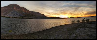 Sunset at Millsite Reservoir Ferron Utah