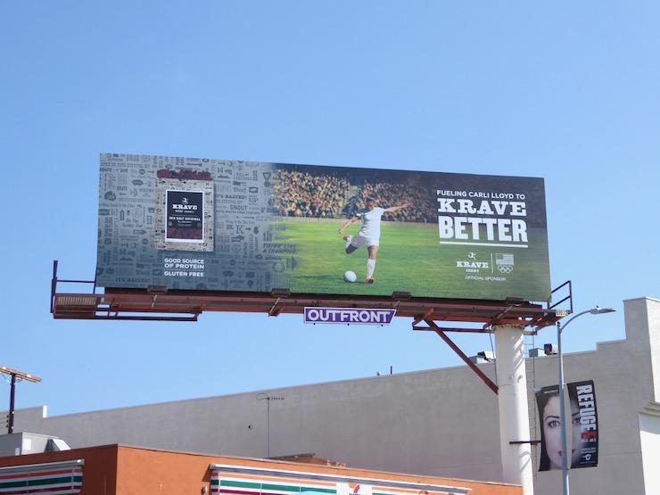 Krave Jerky women soccer Olympics 2016 billboard