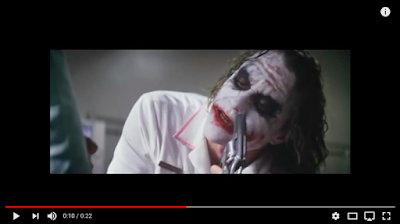The Joker in the movie, The Dark Knight