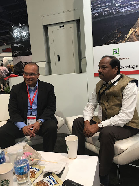 Government of Jharkhand at Las Vegas to Woo Investors Caterpillar Pvt.Ltd. proposed   manufacturing unit in Adityapur
