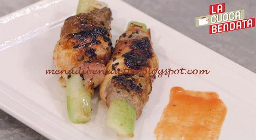 La Cuoca Bendata - Spiedini di sedano ricetta Parodi