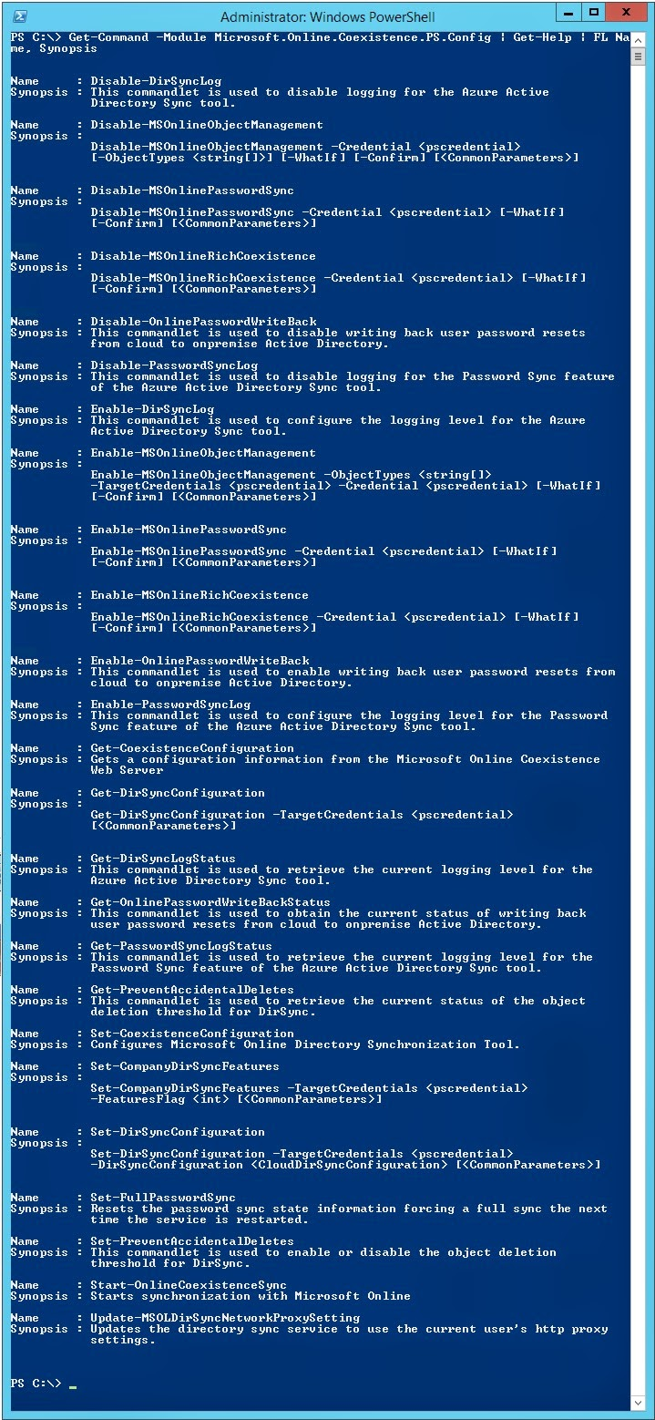 Powershell Disable Directory Synchronization