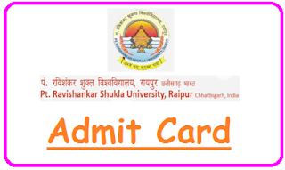 PRSU Raipur Admit Card 2020
