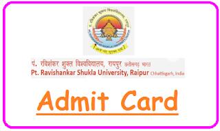 PRSU Raipur Admit Card 2021