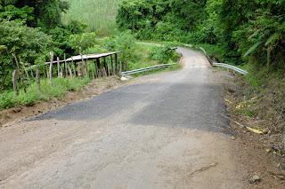 road pavement near bridge in Puriscal