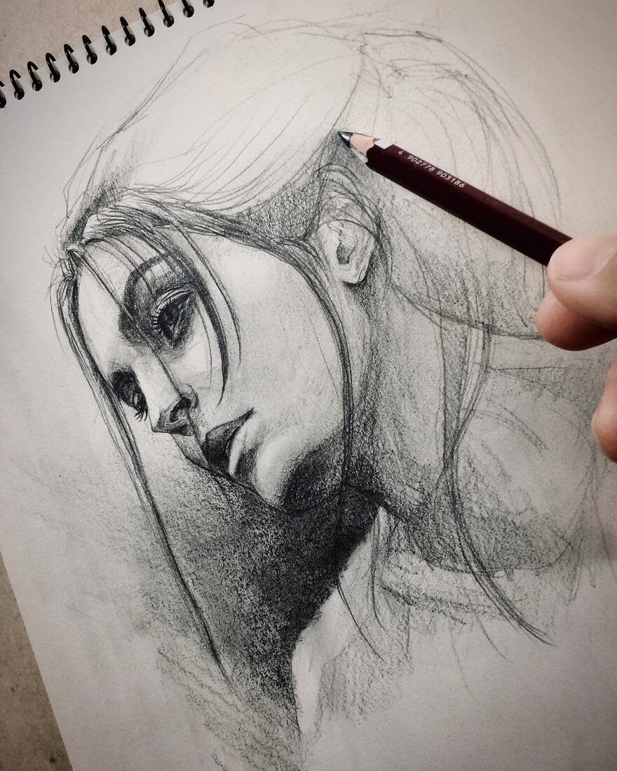 09-@rocchirebecca-Yoshi-Portrait-Drawings-of-People-on-Instagram-www-designstack-co