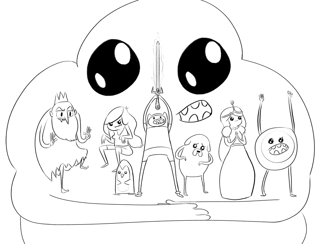 Modern Adventure Time Coloring Pages Lumpy Space Princess