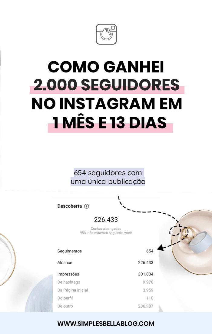 Como eu ganhei 2.000 seguidores no Instagram em 1 mês e 13 dias