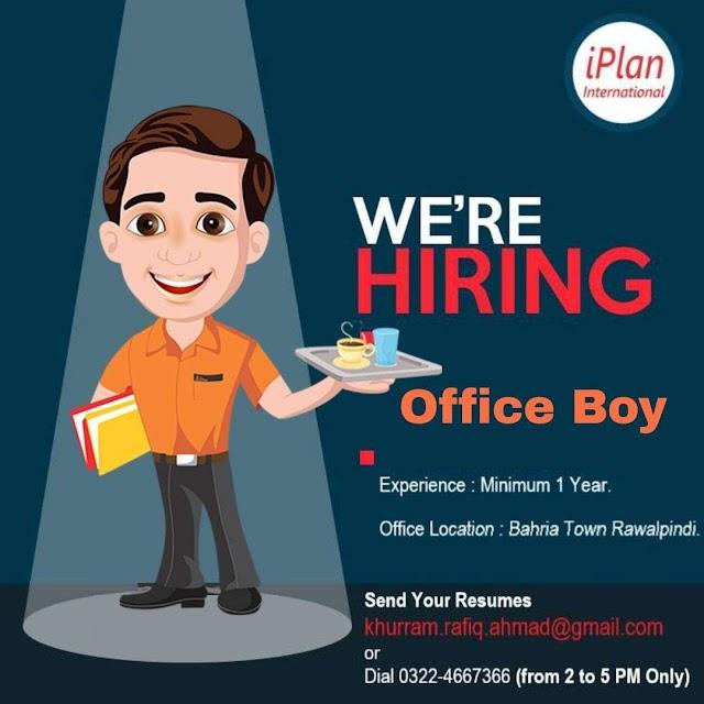 Office Boy / Girl Bahira Town Rawalpindi, Rawalpindi, Punjab
