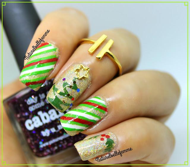 candy cane manicure