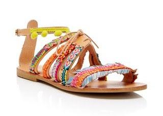 Elina Linardaki Handmade Fringe Sandals