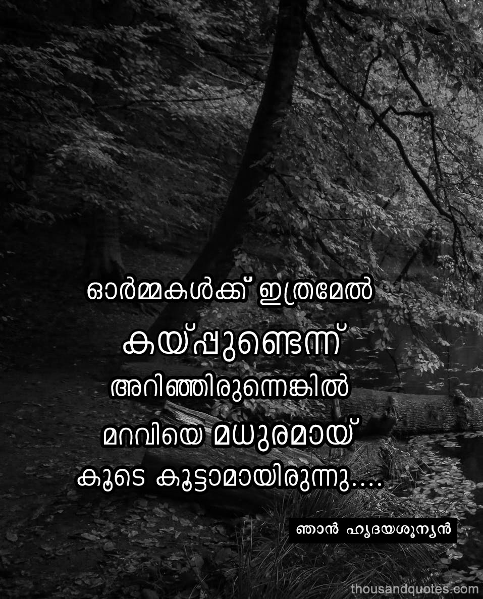 Beautiful Malayalam Life Quotes  Kwikk ~ Kwikk