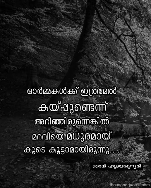 Kwikk-Malayalam-sad-quotes-about-Life-and-memories-collection | ormakalkku ithramel kayppundennu arinjirunnenkil maraviye madhuramaay koode koottaamayirunnu