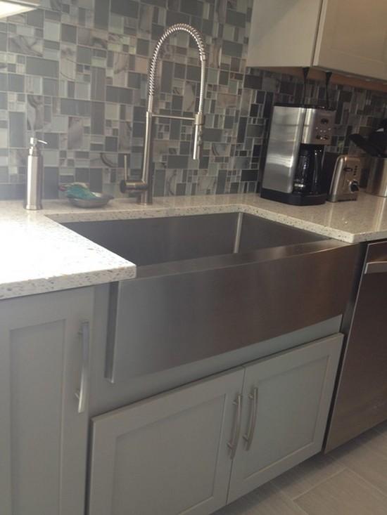 ... Giagni Fresco Stainless Steel Pull Down Kitchen Faucet On Rohl Faucet  Pull Down, Modern Kitchen ...
