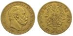 20 Mark, Wilhelm I. Deutscher Kaiser (1871 - 1888) König von Preußen (1861 - 1888), Deutsches Reich 1885