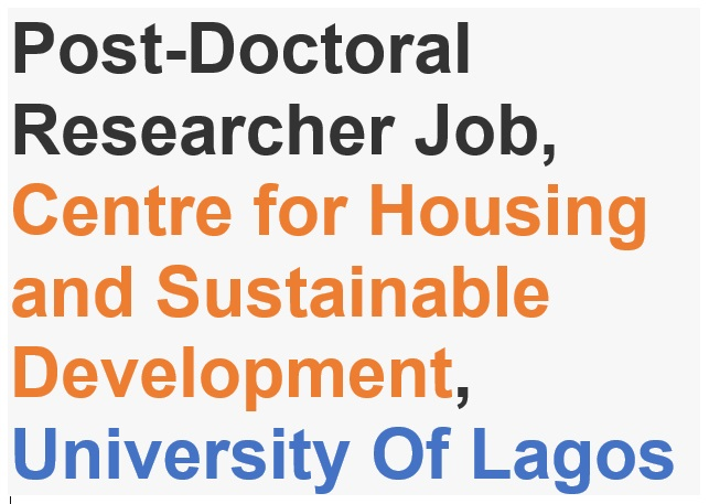Post-Doctoral-Researcher-recruitment-at-CHSUNILAG-University-Of-Lagos