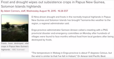 Papua New Guinea is not sustainable!!!