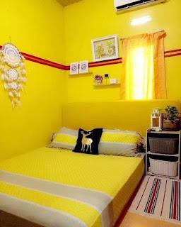 Contoh dekorasi kamar tidur kecil terlihat luas