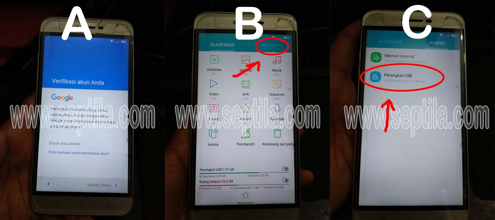 cara frp factory reset protection or