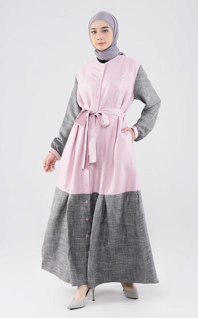 Long dress two tone