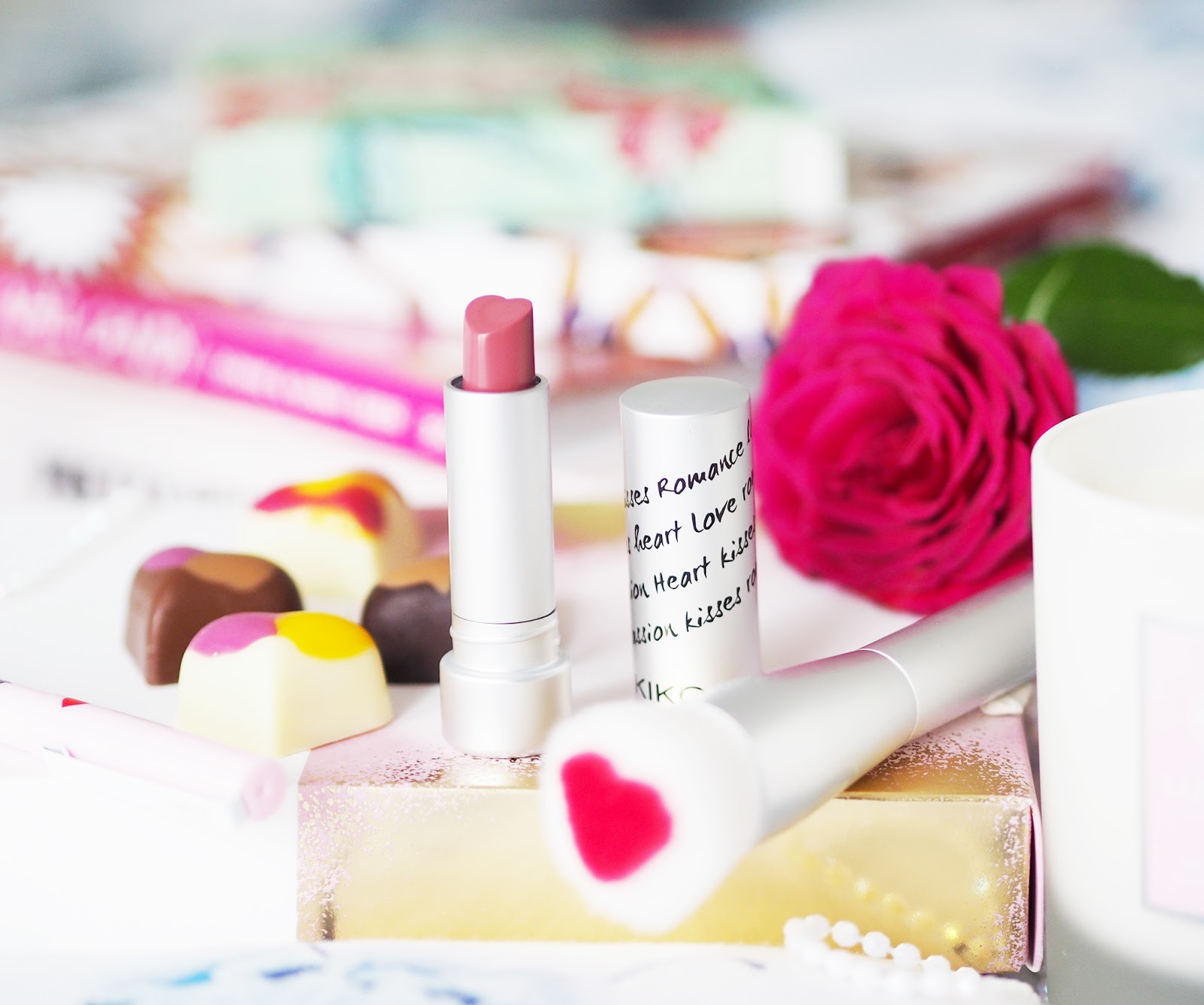 Valentine's gift ideas - Kiko heart shaped lipsticks