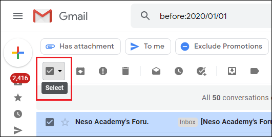 Delete old Gmail messages.