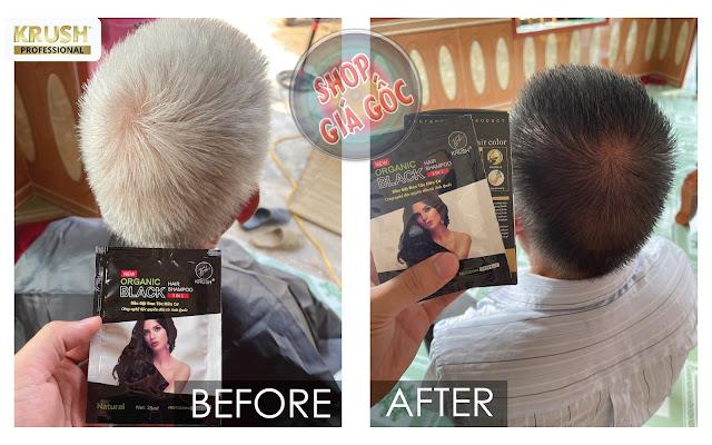Đối tượng sử dụng Dầu gội nhuộm tóc Krush hiệu quả