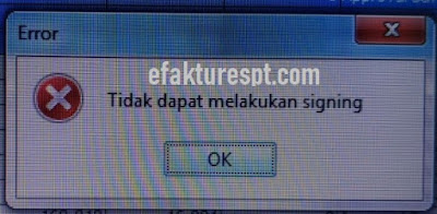 Gagal cetak PDF tidak dapat melakukan signing