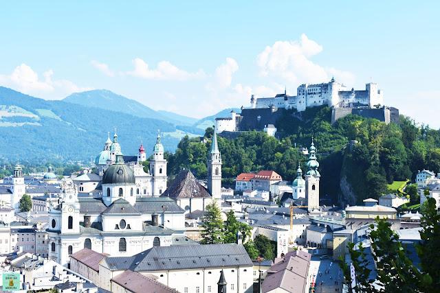 Vistas de Salzburg desde el Monte Mönchsberg, Austria