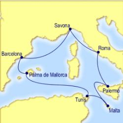ruta crucero Mediterraneo, rutas de crucero