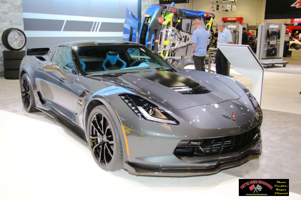 2017 Chevrolet Corvette Grand Sport on display at 2016 SEMA.