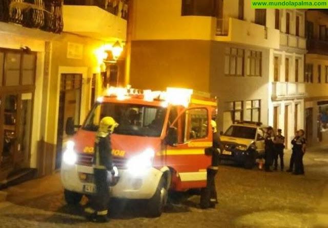 Incendio en una vivienda de Santa Cruz de La Palma