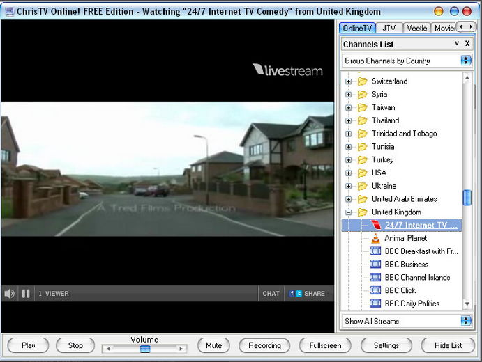 Free Internet Tv Channels List