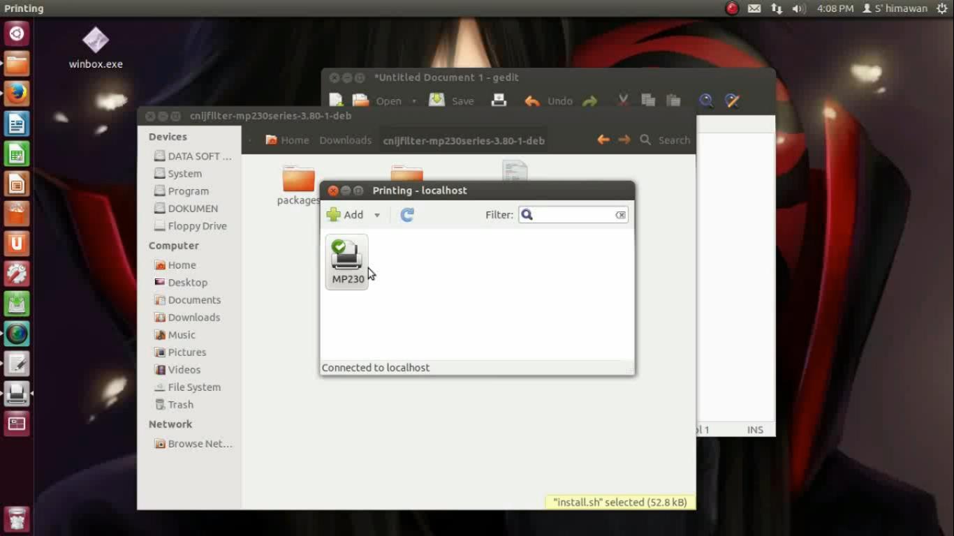 Install Printer Canon MP237 Ubuntu 12.04 | Learning Hacker