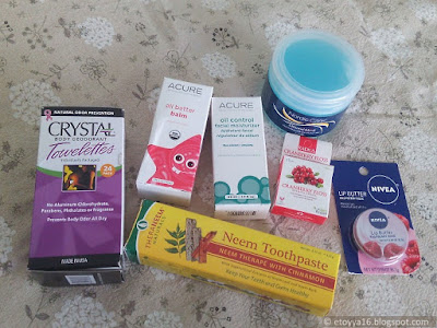 Acure Organics, Nivea, Nordic Care, Crystal, Organix South, Radius