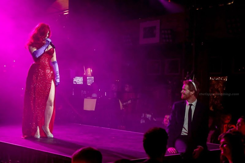 Isabella Bliss as Jessica Rabbit at Proud Embankment in London 9 Dec-2020