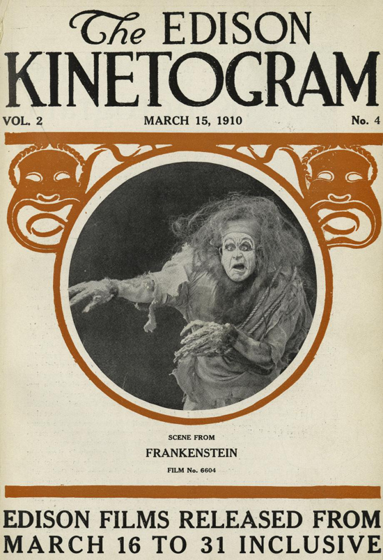 Frankenstein, The Edison Kinetogram 1910 cover