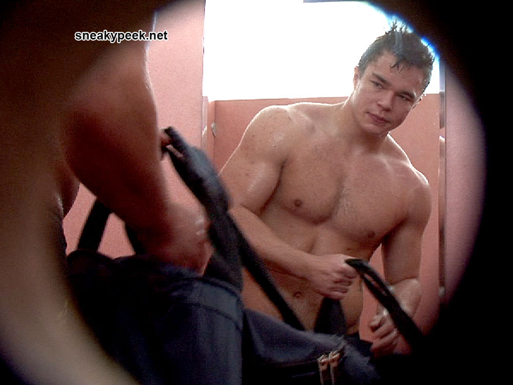 Spy cam erection in public shower gay xxx