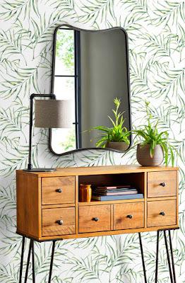 Papel Pintado Hojas tropicales verdes 088